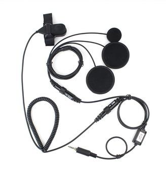 10pcs New XQF Professional Motorcycle Helmet PTT Headset Earpiece for Ham Radio for YAESU Radio VX-6R/7R 6E/7E C0271A  Alishow