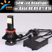 Free Shipping 2013 Newest car LED headlight DC12-24V CREE chip 3600LM H8,H9,H11 led car headlight,H16 car fog lamp