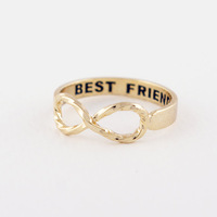 Twist Infinity Best Friends Ring in Gold Sister Ring