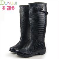 free shipping,2014 alligator rain boots waterproof women wellies boots,women rainboots,woman water shoes,black