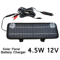 Multi-Purpose Car Solar Panel  mono solar cell solar back sheet Battery Charger Car RV 12V 4.5W