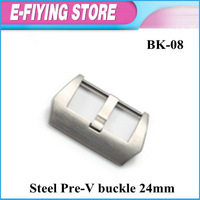 BK-08 TOP 316L Steel Brushed Pre-V watch buckle 24mm for Panerai watches strap Free shipping