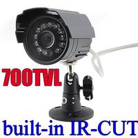 "Free shipping 1/3"" Color Night Vision Indoor/Outdoor security CMOS 700TVL IR CCTV Camera"