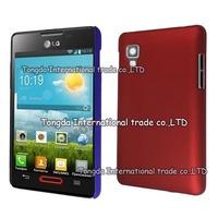 For LG Optimus L4 II E440 E445,hard rubber matte case cover,1pcs/lot,Air free shipping
