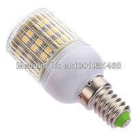 5Pcs/Lot High Power 3W 3528 SMD E14 48 LED light Bulb Lamp Cool White /Warm White With Cover 200V-240V Free Shipping