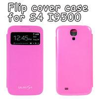 Original Dormancy Sleep Function Flip Case For Samsung Galaxy S4 I9500 Cover Flip Battery Case Mobile Phone Bag Freeshipping