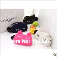Autumn fashion 2013 domesticated hen cat cosmetic bag day clutch coin purse make up bag mini wallet animal handbag for grils