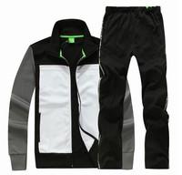 2013 fashion sports wear for men gym suits cotton leisure tracksuit / sweatsuit hoodied sport suits 3 colo M-2XL