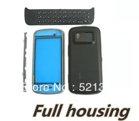 Free shipping -10pcs/lot New N97 housing case Full repair parts replacement case for Nokia N97 housing with logo