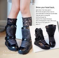 2013 child boots skull black diamond male female child single boots medium-leg child winter boots female boots