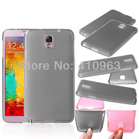 Newest Free shipping 1pcs/lot +film Clear TPU Case for Samsung Galaxy Note 3