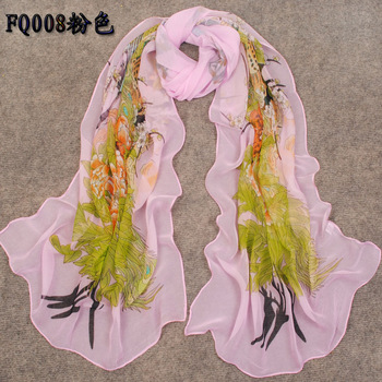 2013 spring and autumn long silk scarf female beach towel silk scarf