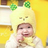Baby Knitted Winter Warm hat Cute rabbit Kids hats Cotton Beanie Infant hat knitted children hat