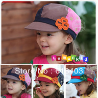Free shipping 2013 new spring hat mixed colors wholesale Korean children hats children's baseball cap