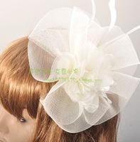 Banquet bride fashion aesthetic handmade gauze flower hair accessory fedoras the wedding hair accessory hair accessory
