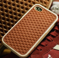 New Hot good quality Fashion  vans     of  the wall waffle For ipone 5 4 4s shockproof cell phone case back shell cover