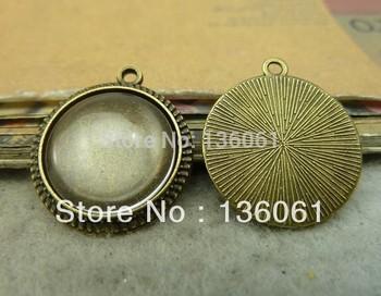 Wholesale Fashion  Antique Bronze  Vintage  Charms Base Settings 16mm Pendants  Fit  Bracelets  DIY Jewelry Making   60pcs Z483