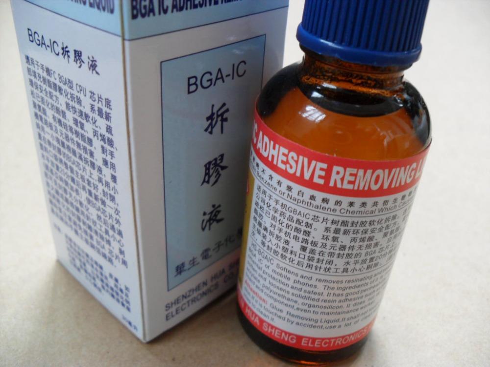 30ml BGA CPU GPU Chipset Epoxy Glue Remover Solution Solvent, BGA IC Adhensive Removing Liquid(China (Mainland))