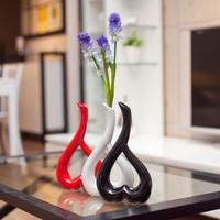 Modern home decoration new house decoration technology gift ceramic vase home decoration heart flower