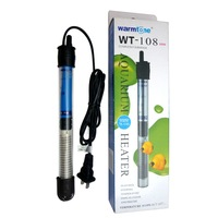 Free shipping Warmtone aquarium heater Quartz Glass Submersible Thermostatic Heater 100-Watt Fish tank heater