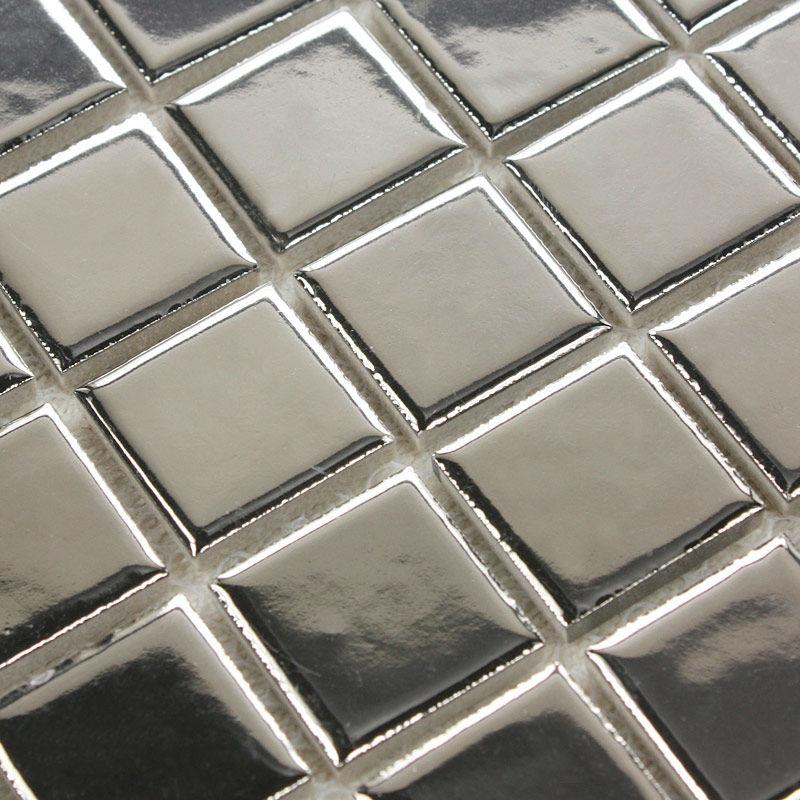 Porcelain Floor Tile Sheets Plating Slip Mosaic Mirror Bathroom Wall Mirror Tiles Backsplash Stickers Kitchen Design Pool Border(China (Mainland))