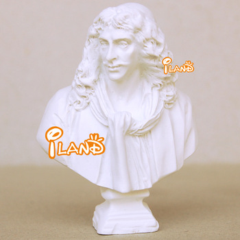 1/12 Dollhouse Miniature Moliere Statue Bust Resin Well made HO028E