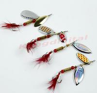 Wholesale 3pcs/lot New Sinking Lifelike Fishing Lure Paillette Tackle Treble Hook Spinner Bait Free Shipping