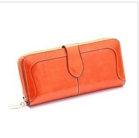 Genuine leather clutch female multifunctional cowhide women's day clutch coin purse women mobile phone holder Wallet Purses