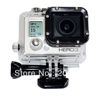 Free Shipping  Waterproof Cover case for Gopro, HERO 3 Waterproof Housing, Gopro Accessories GP28