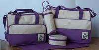 5pcs Multi Function Baby Diaper bags Super Large Carrier Tote Shoulder pvc Bag drop shipping 3408