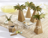 Palm Tree Favor Boxes;candy box, candy box of coconut trees, creative marriage product wedding gift