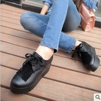 Free shipping.2013 Autumn new fashion Increased within platform shoes.Thick bottom causal platform shoes for women.Size35-39