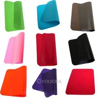 1pc Mouse Pad 8 colors for choose Non-slip washable portable thin soft wrinkle silica gel Mouse Mat pad