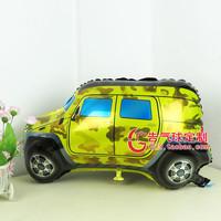 Free shipping 40cm*70cm Army Green SUV balloon,Cartoon style  aluminum party decoration balloon  10pcs/lot