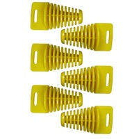 6pcs Small Yellow ZXTD Exhaust Pipe Muffler Silencer 2-Stroke Plug Motorbike