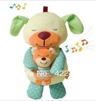 Free Shipping Infantino Soothe Snuggle Pup Animal Bear Music Talking Toy, Plush Baby Toys Musical Toys