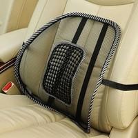 Car lumbar support cushion breathable mesh granule four seasons massage cushion car cushion plush lumbar support