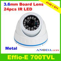 Indoor/Outdoor Dome Camera 700TVL Sony 960H CCD Effio-E CXD4140GG Small Home Security Camera
