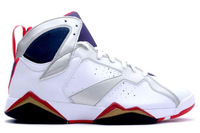 Brand 7 Retro Basketball Shoes in White Blue Color for Sale
