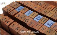 70pcs/set DIY Wood & Rubber Stamp with Wooden Storage Box Multipurpose Free Shipping