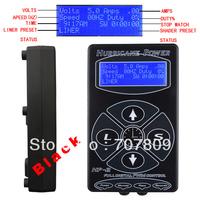 One PRO BLK Hurricane Digital DUAL Tattoo Power Supply L/S  foot pedal talon clip cord - Free shipping