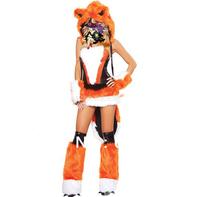 New Orange fur sexy fox cosplay women Party Dresses fancy dress costumes