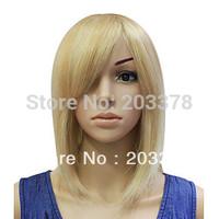 Cool Sexy Blonde Medium Straight Bob Hair Wig free shipping