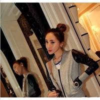 2013 high zipper coveredbuttons type jacket outerwear