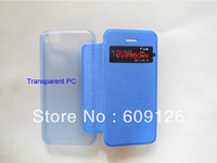 $4.00/pcs for Samsung Galaxy S4 PU Leather and Transparent PC case with free shipping by DHL on basis of 50pcs