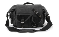 One-shoulder canvas camera bag durable solid professional digital camera backpack