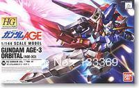 Free shipping 1/144 HG Gundam Bandai Age 26 Age-3 Orbital Gundam+Set Gundam