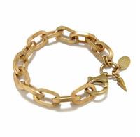 Western Popular Vintage Chunky Chains Link Bracelet Punk Letter Charms Bracelet AB033