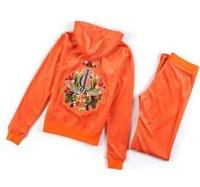 Velvet Fabric Embroidery Cardigan 2 Pieces Women's Hoodies Sweatshirts Brand Sportswear Clothing Set  Sports Suit Female