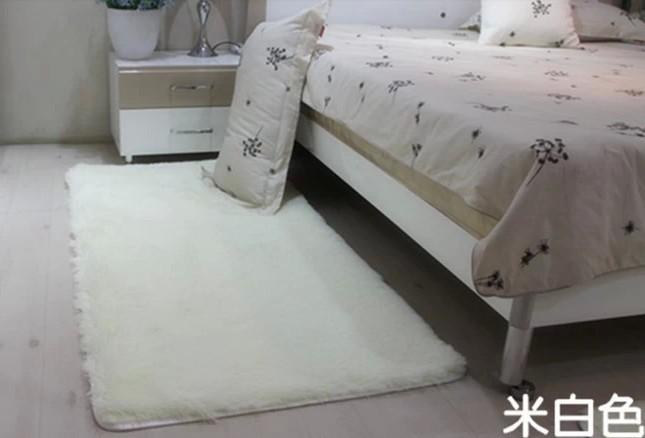 Na venda 80 * super macio Moda 120 centímetros tapete branco tapete de área tapete antiderrapante esteira de banho tapete capacho Frete grátis(China (Mainland))